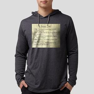 June 2nd Mens Hooded Shirt