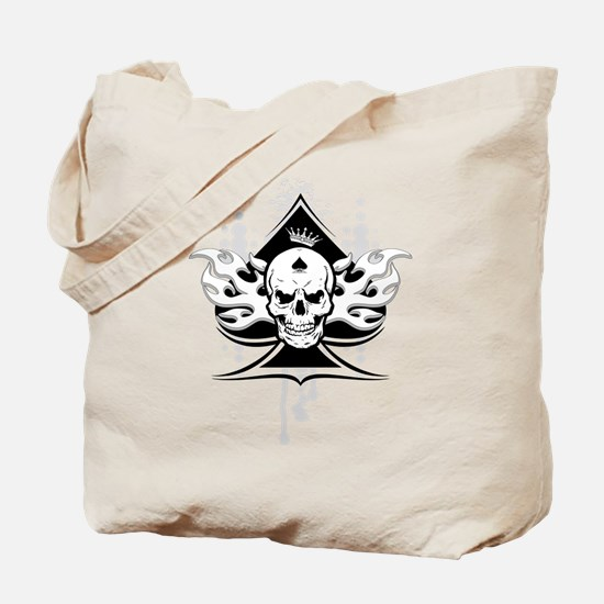 ace of spades skull Tote Bag