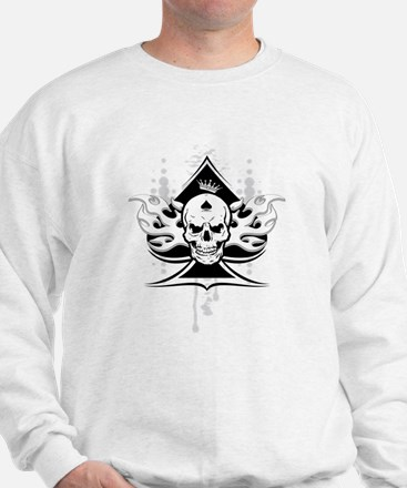 ace of spades skull Sweater