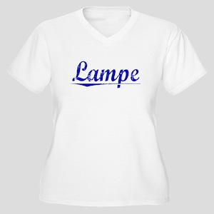 Lampe, Blue, Aged Women's Plus Size V-Neck T-Shirt