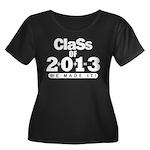 Class of 2013 Women's Plus Size Scoop Neck Dark T-