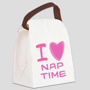 nap time girl Canvas Lunch Bag