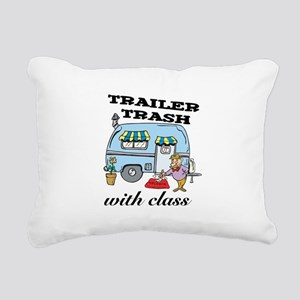 3-trailer trash with class Rectangular Canvas