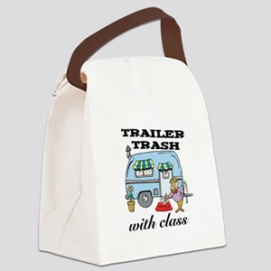 3-trailer trash with class Canvas Lunch Bag