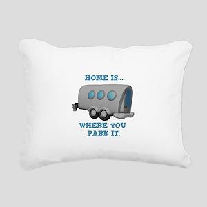 home is where u park Rectangular Canvas Pillow