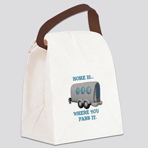 home is where u park Canvas Lunch Bag