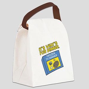 3-tv dinner Canvas Lunch Bag