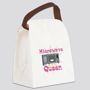 microwave queen Canvas Lunch Bag