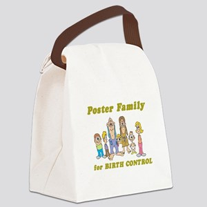 poster family Canvas Lunch Bag