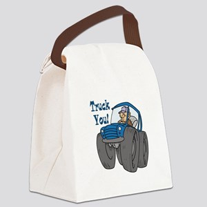 3-truck you Canvas Lunch Bag