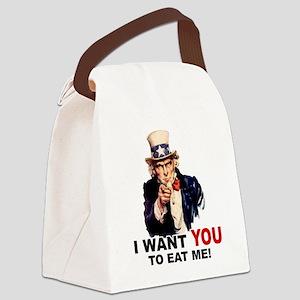 EAT ME Canvas Lunch Bag