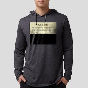 June 23rd Mens Hooded Shirt