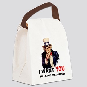 LEAVE ME ALONE Canvas Lunch Bag