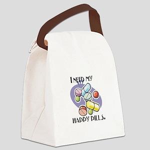 pills happy pills copy Canvas Lunch Bag