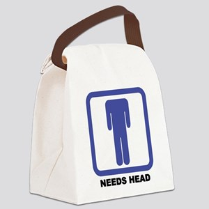 needs head Canvas Lunch Bag