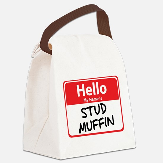 stud muffin.png Canvas Lunch Bag