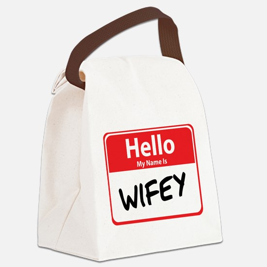 wifey.png Canvas Lunch Bag