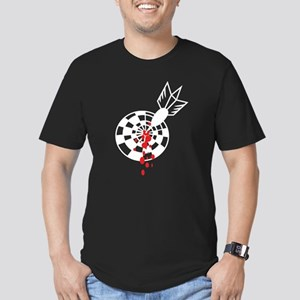 Darts and blood Men's Fitted T-Shirt (dark)