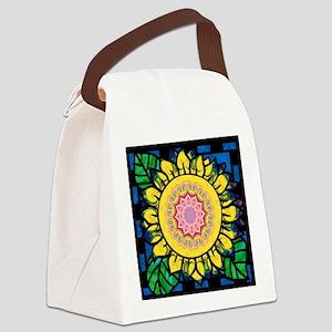 Sunflower Omm Canvas Lunch Bag