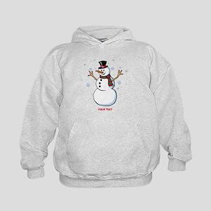 Custom Snowman Kids Hoodie