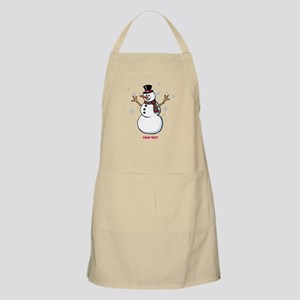 Custom Snowman Apron