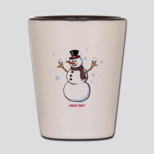 Custom Snowman Shot Glass