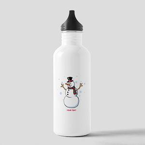Custom Snowman Stainless Water Bottle 1.0L