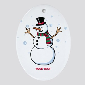 Custom Snowman Ornament (Oval)