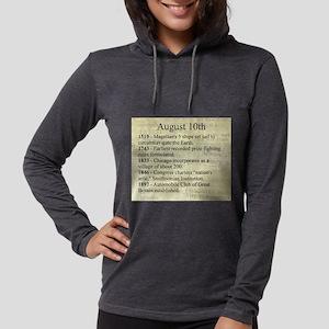 August 10th Womens Hooded Shirt