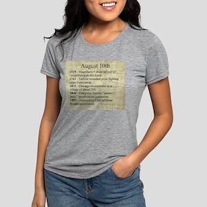 August 10th Womens Tri-blend T-Shirt