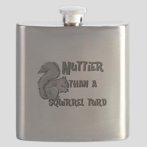 nuttier than squirrel turd black Flask
