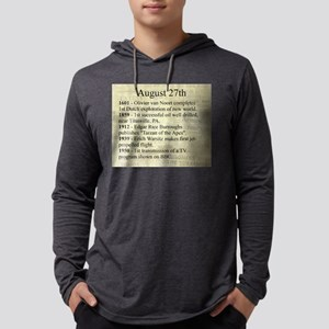 August 27th Mens Hooded Shirt