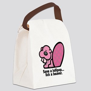 lick a beaver Canvas Lunch Bag