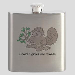 beaver gives me wood Flask