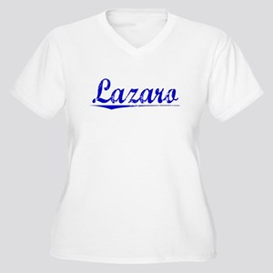 Lazaro, Blue, Aged Women's Plus Size V-Neck T-Shir