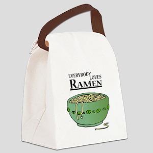 ramen noodles copy Canvas Lunch Bag