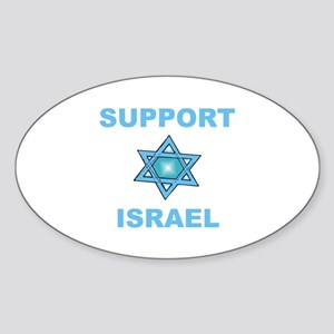 Support Israel Star of David Oval Sticker