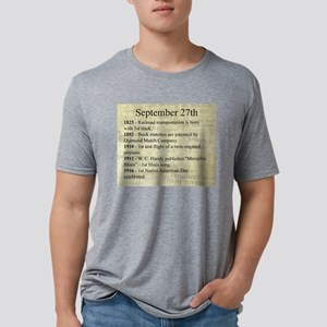 September 27th Mens Tri-blend T-Shirt