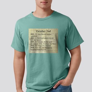 October 2nd Mens Comfort Colors Shirt