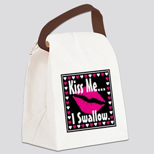 kiss me i swallow Canvas Lunch Bag
