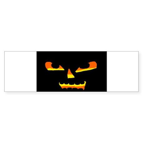 Jack OLantern face 2 Sticker (Bumper)