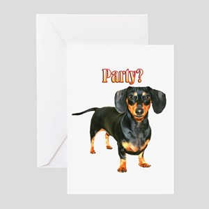 Lily Dachshund Dogs Here Greeting Cards (Pk of 10)