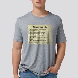 November 4th Mens Tri-blend T-Shirt