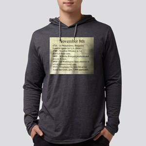 November 8th Mens Hooded Shirt