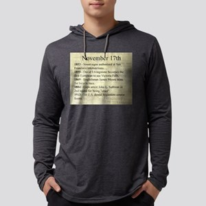 November 17th Mens Hooded Shirt