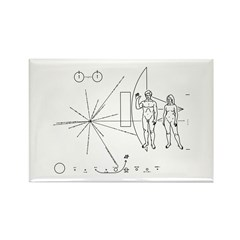 Pioneer Plaque Rectangle Magnet (10 pack)