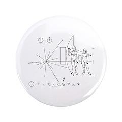 """Pioneer Plaque 3.5"""" Button"""