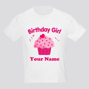 Birthday Girl Cupcake Kids Light T-Shirt