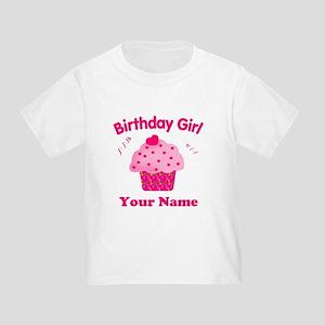Birthday Girl Cupcake Toddler T-Shirt