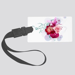 Beautiful Pink Flowers Large Luggage Tag